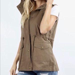 Mocha Military Vest